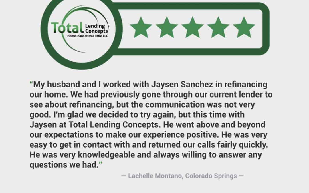 Lachelle Montano Colorado Springs Colorado Home Loan
