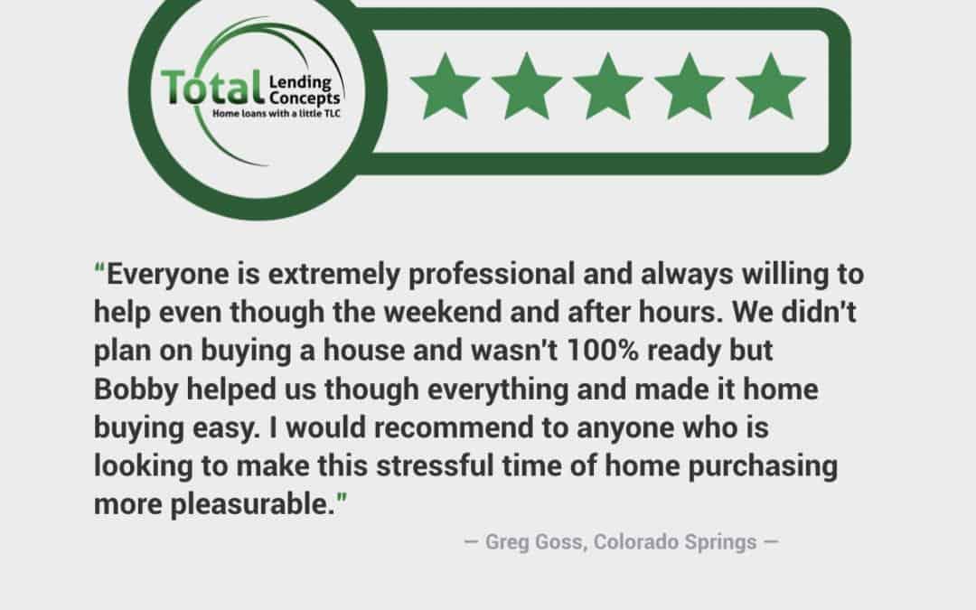 Greg Goss Colorado Springs Colorado Home Mortgage