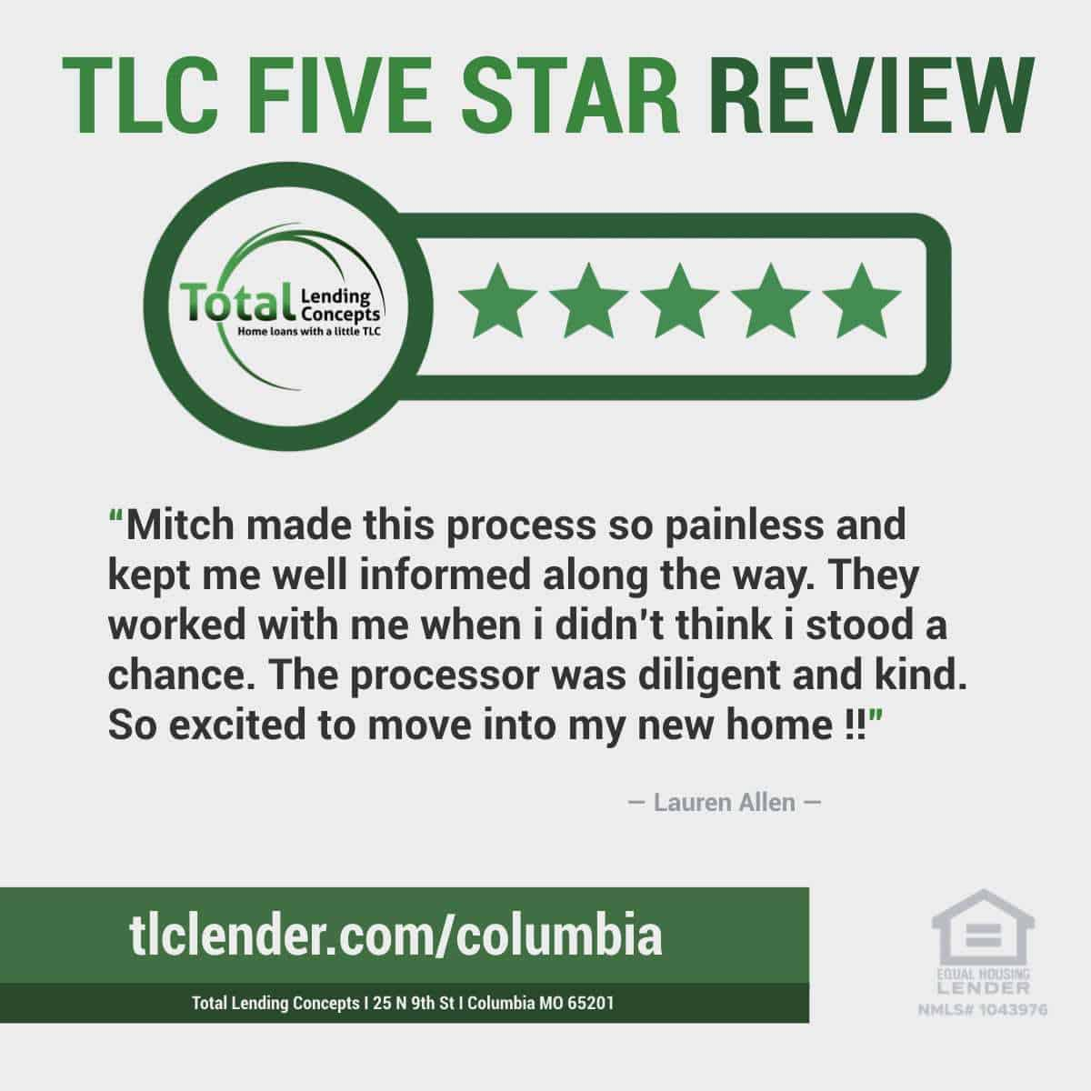 Total-Lending-Concepts-Five-Star-Review-Lauren-Allen-in-Columbia-Missouri-for-Mitch-Home-Mortgage