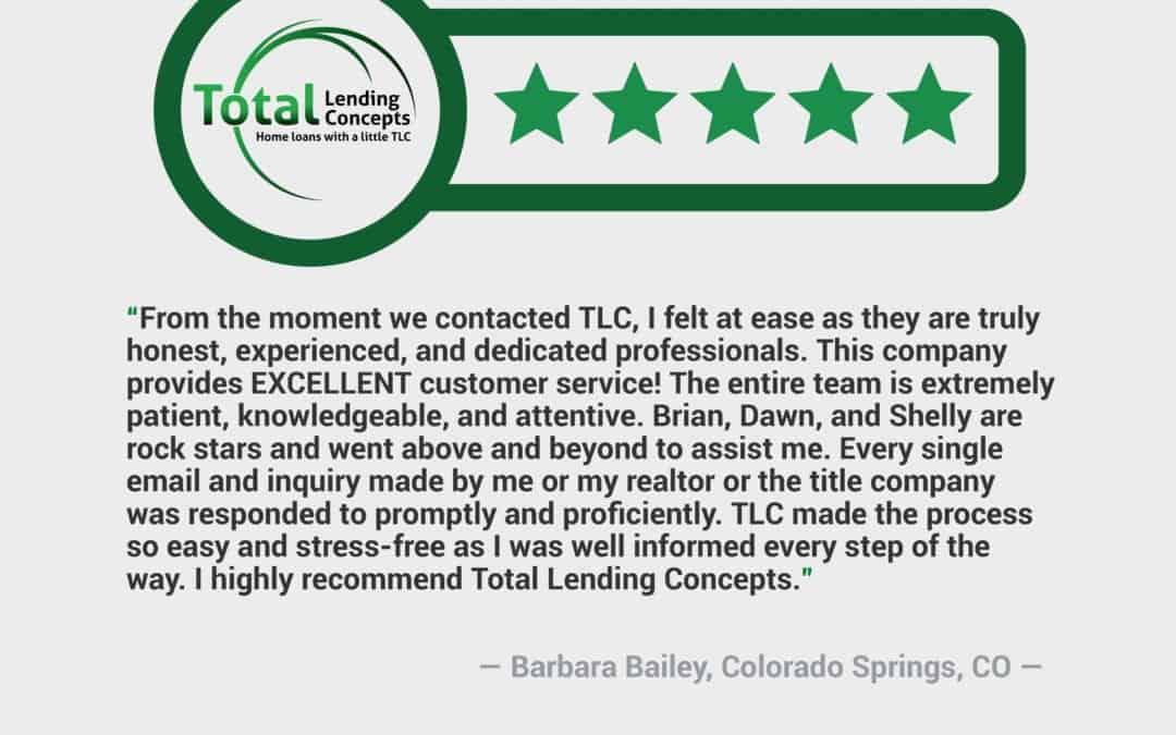 Barbara Bailey  in Colorado Springs Colorado  House Loan