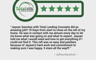 Jeffrey Blandford Refinance in Colorado Springs Colorado