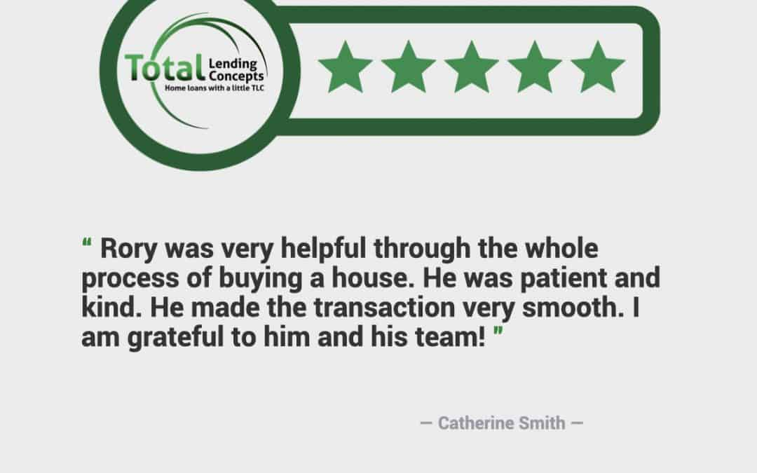 Five Star Review for Rory of Total Lending Concepts Home Loan Dallas Texas